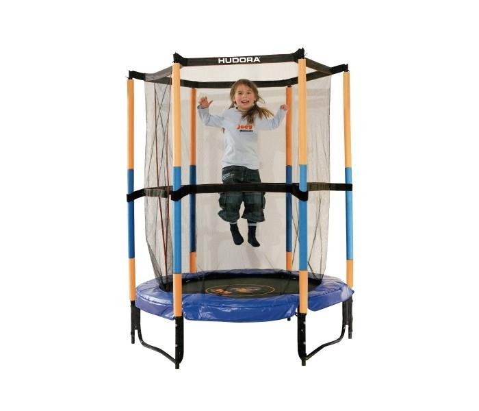 Детские батуты Hudora Батут Safety trampoline Jump in 140 см каркасный батут exit домашний 140 см