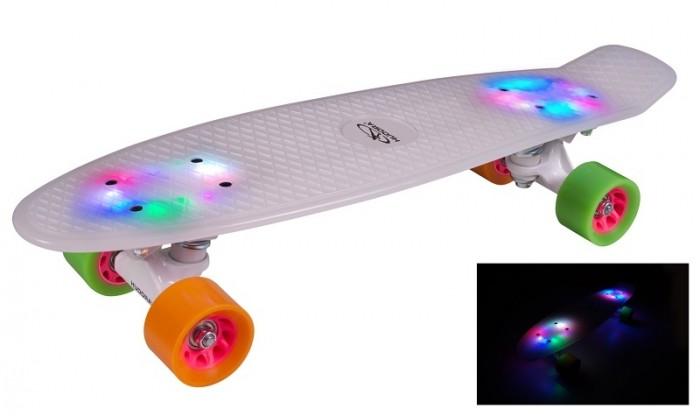 Скейтборды Hudora Скейтборд Retro с подсветкой скейтборд с какого возраста можно начинать