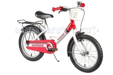 Велосипед двухколесный Hudora Childrenbike 16Двухколесные велосипеды<br>Велосипед двухколесный Hudora Childrenbike 12 с порошковой стальной рамой. Стильный, прочный и очень надежный.  Особенности: От 3 лет Минимальный рост: 90 см Материал ручек: резина Диаметр колес в дюймах: 16 Вид тормоза: комбинированный (ножной + ручной) Надувные шины Подножка Багажная корзина Тормоз передний: V - Brake Тормоз задний: Coaster brake
