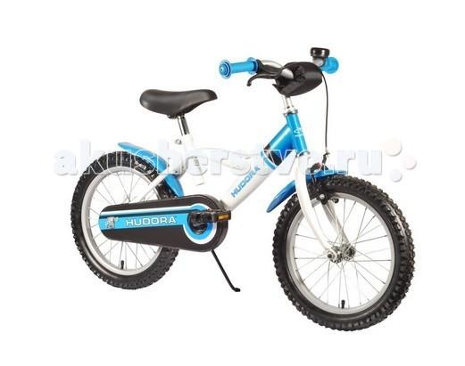 Велосипед двухколесный Hudora Childrenbike 16Childrenbike 16Велосипед двухколесный Hudora Childrenbike 12 с порошковой стальной рамой. Стильный, прочный и очень надежный.  Особенности: От 3 лет Минимальный рост: 90 см Материал ручек: резина Диаметр колес в дюймах: 16 Вид тормоза: комбинированный (ножной + ручной) Надувные шины Подножка Багажная корзина Тормоз передний: V - Brake Тормоз задний: Coaster brake<br>