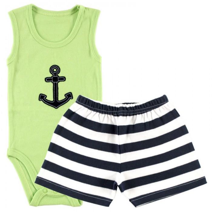 Комплекты детской одежды Hudson Baby Боди-майка и шорты Якорь боди детское hudson baby hudson baby боди пингвин 3 шт желто голубой
