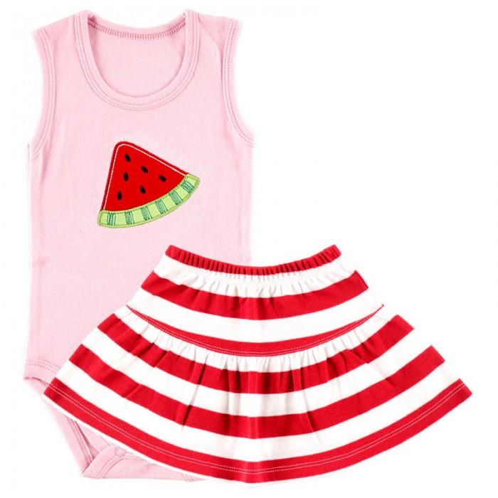 Комплекты детской одежды Hudson Baby Боди-майка и юбка Арбуз боди детское hudson baby hudson baby боди пингвин 3 шт желто голубой