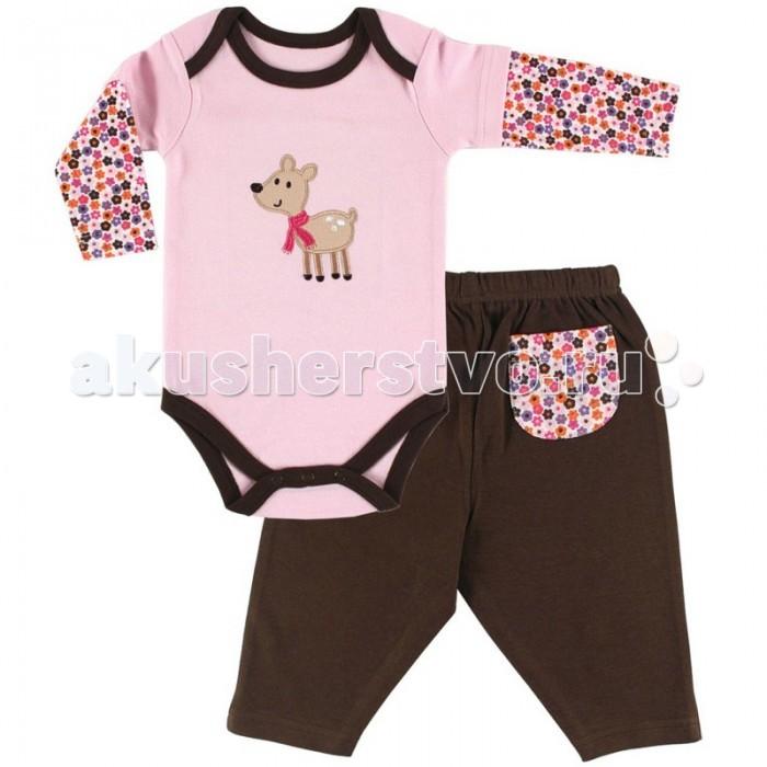 Комплекты детской одежды Hudson Baby Боди и штанишки Бэмби hudson baby комплект для девочки боди и штанишки для девочки hudson baby