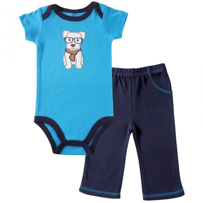 Комплекты детской одежды Hudson Baby Боди короткий рукав и штанишки боди детское hudson baby hudson baby боди пингвин 3 шт желто голубой