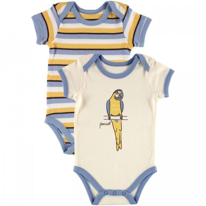 Боди и песочники Hudson Baby Комплект Боди короткий рукав Лимпопо 2 шт. боди детское hudson baby hudson baby боди пингвин 3 шт желто голубой