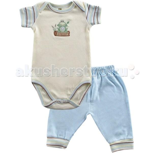 Комплекты детской одежды Hudson Baby Комплект Боди короткий рукав и штанишки Органик (2 предмета) hudson baby детская