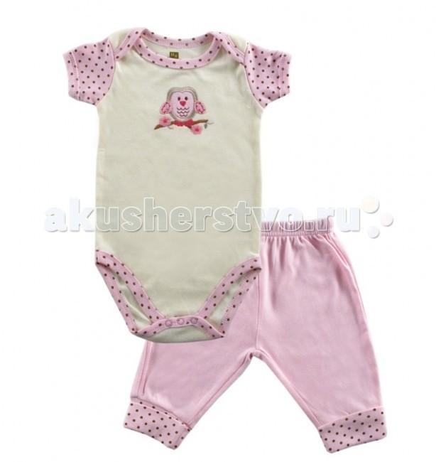 Комплекты детской одежды Hudson Baby Комплект Боди короткий рукав и штанишки Органик (2 предмета) hudson baby комплект