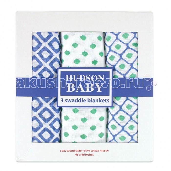 Пеленка Hudson Baby комплект Графические узоры 3 шт.