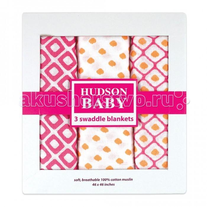 Пеленки Hudson Baby комплект Графические узоры 3 шт. одежда для новорождённых
