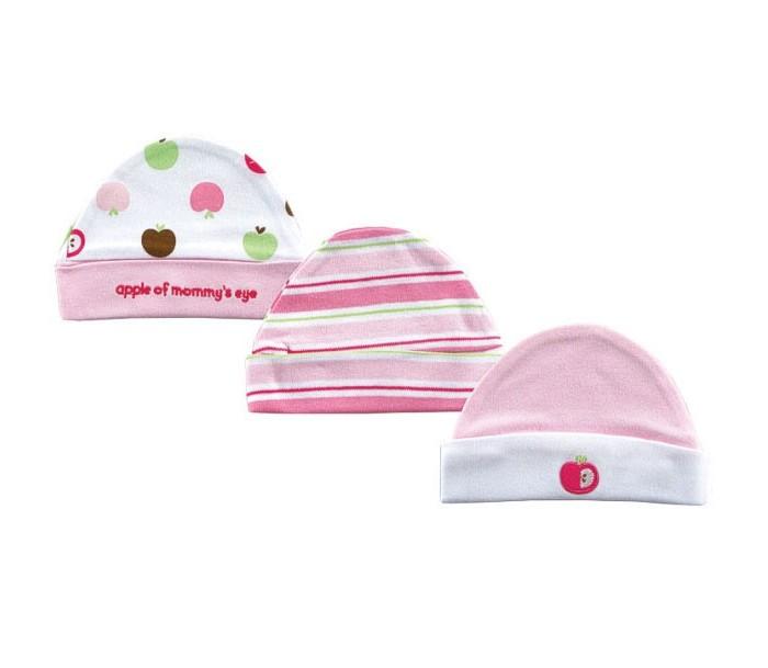 Шапочки и чепчики Hudson Baby Комплект шапочки Яблоко 3 шт. шапки hudson baby комплект шапочки и плед