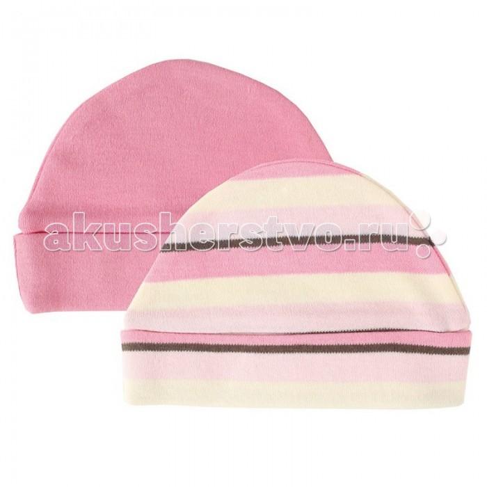 Шапочки и чепчики Hudson Baby Шапочки В полоску (органик) 2 шт. шапки hudson baby комплект шапочки и плед