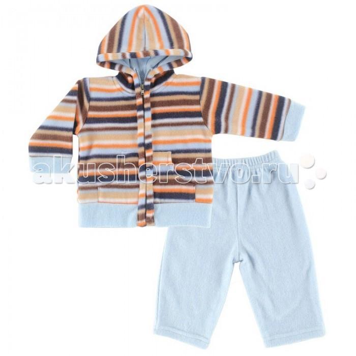 Демисезонные комбинезоны и комплекты Hudson Baby Комплект Жакет с капюшоном и штанишки Полоски (2 предмета) комплект детский hudson baby 55035 f розовый р 55 61