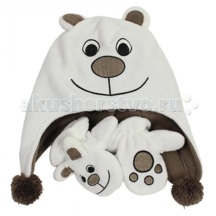 Шапочки и чепчики Huppa Флисовая шапка и варежки Bruno шапка salmo маска флисовая с прорезями 303322 xl