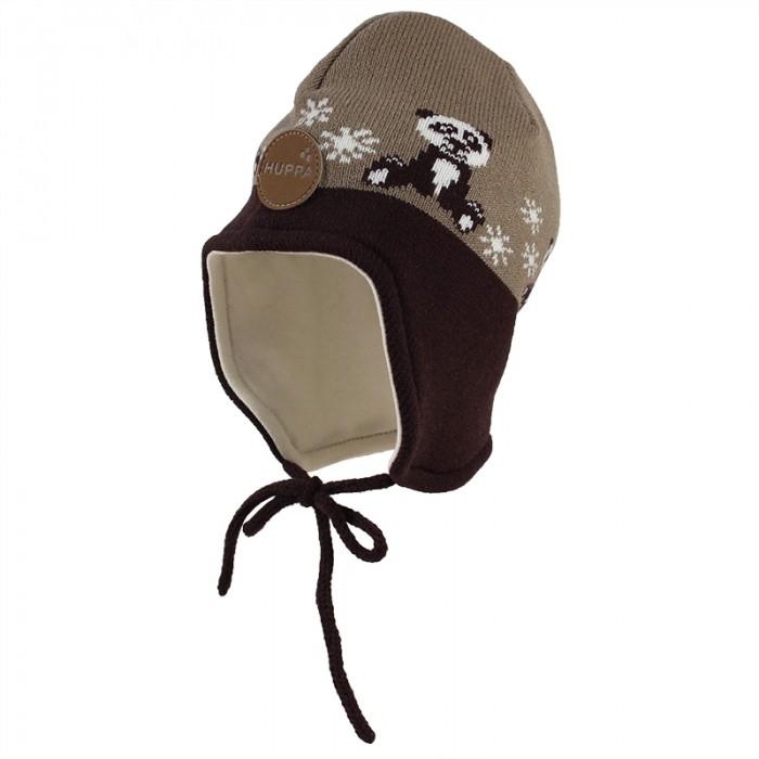 шапки варежки и шарфы huppa вязаная шапка шлем для малышей coco Шапки, варежки и шарфы Huppa Вязаная шапка для малышей Karro 1