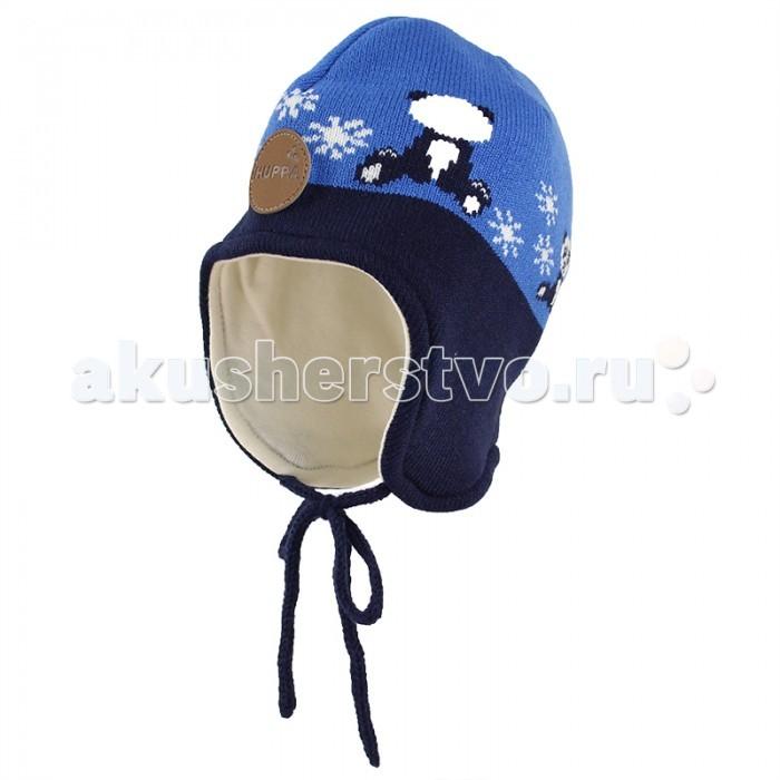 Шапочки и чепчики Huppa Вязаная шапка для малышей Karro 1 шапка вязаная button blue шапка вязаная