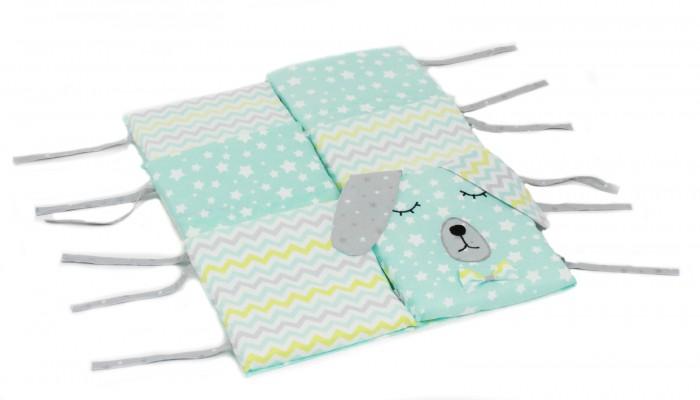 бортики в кроватку idea kids кролики Бортики в кроватку Hush Hush! Сонный Дружок