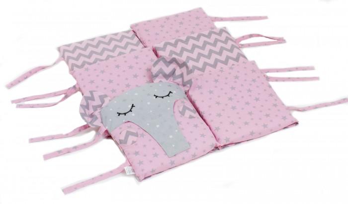 бортики в кроватку idea kids кролики Бортики в кроватку Hush Hush! Сонный слоник