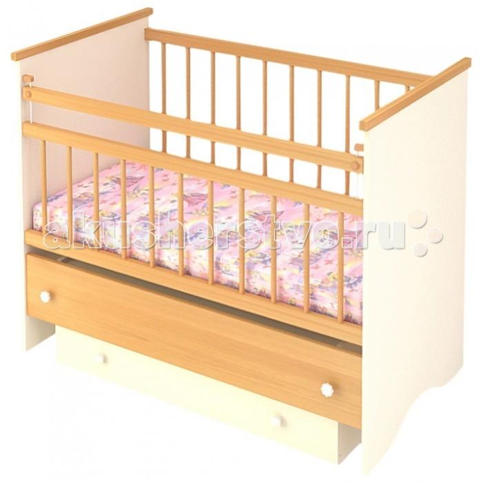 Детская кроватка Бэби Бум Вероника маятник продольный