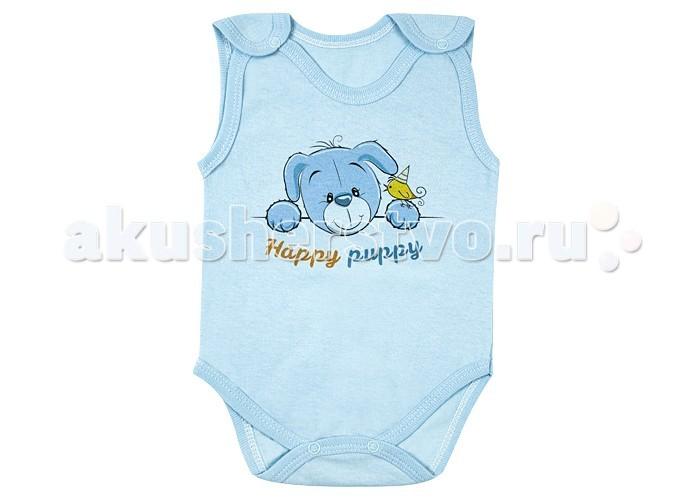 Боди и песочники Idea Kids Боди-майка Happy puppy 01ХП футболки и топы idea kids майка зонты