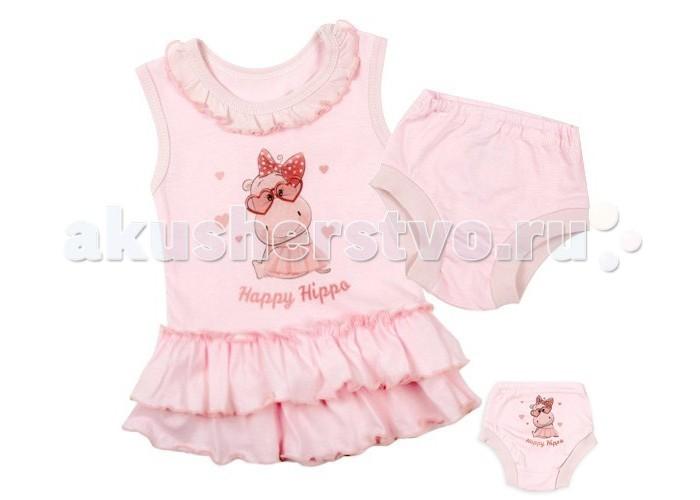Комплекты детской одежды Idea Kids Комплект Happy Hippo 02ХХ комплект для девочки 5161oz0a10p01 синий beba kids