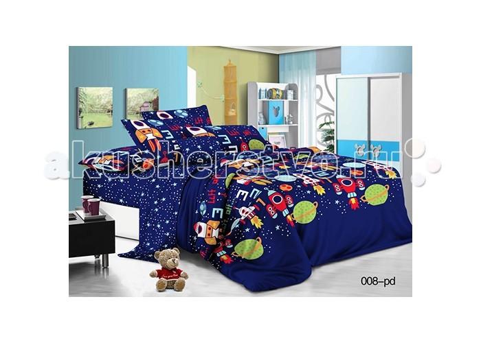 Постельные принадлежности , Постельное белье 1.5-спальное Idea Kids Космос 1.5-спальное (3 предмета) арт: 484111 -  Постельное белье 1.5-спальное