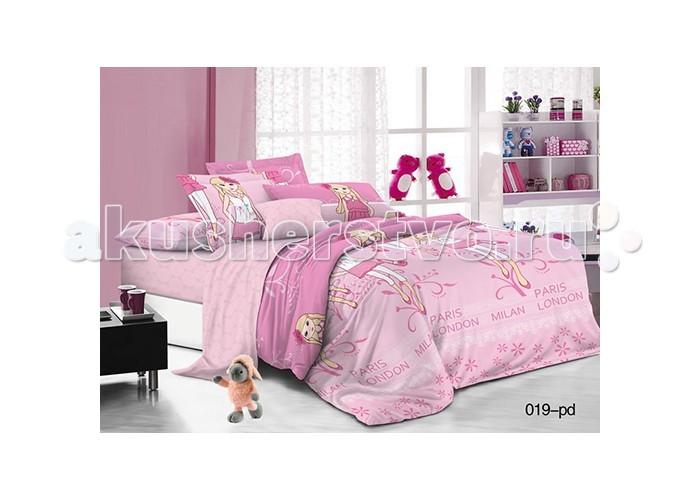 Постельные принадлежности , Постельное белье 1.5-спальное Idea Kids Маленькая леди 1.5-спальное (3 предмета) арт: 484126 -  Постельное белье 1.5-спальное
