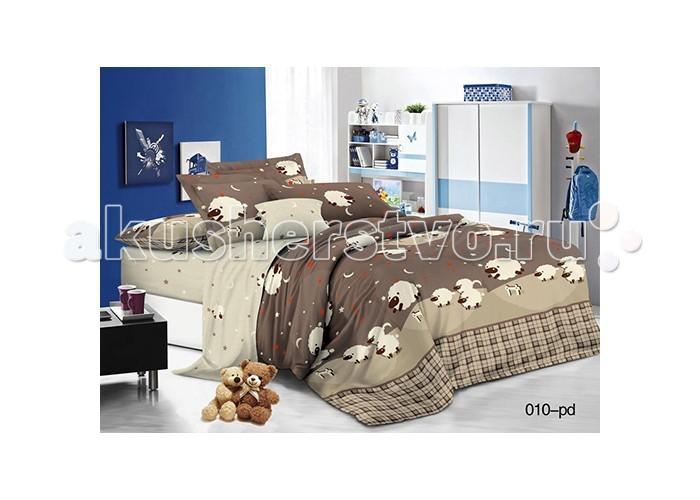 Постельные принадлежности , Постельное белье 1.5-спальное Idea Kids Овечки 1.5-спальное (3 предмета) арт: 484141 -  Постельное белье 1.5-спальное