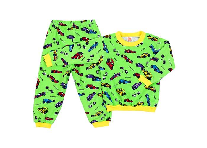 Пижамы и ночные сорочки Idea Kids Пижама длинный рукав Гонки пижамы и ночные сорочки nannette пижама для малышей 26 1785