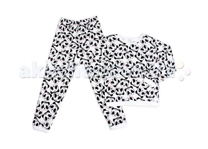 Пижамы и ночные сорочки Idea Kids Пижама длинный рукав Панды ночные сорочки и рубашки