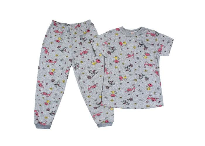 Пижамы и ночные сорочки Idea Kids Пижама (кофта и штанишки) Серые коты ночные сорочки и рубашки