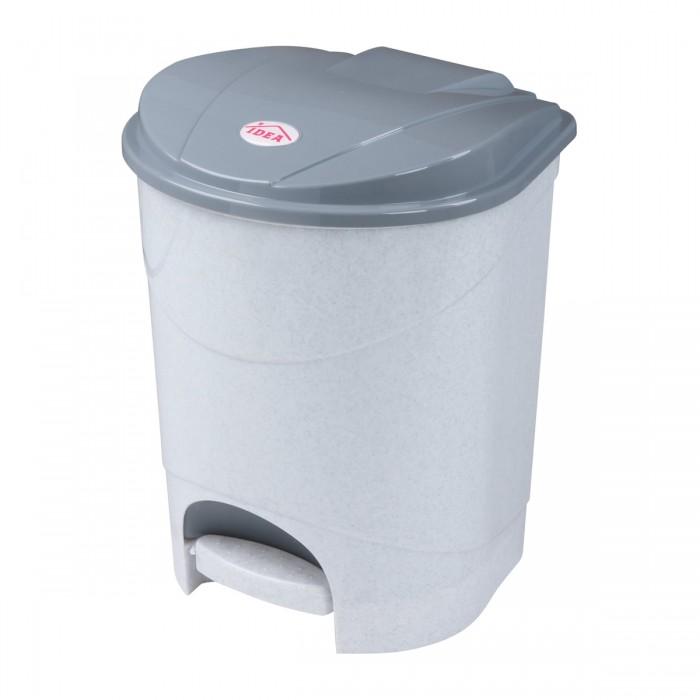 Хозяйственные товары Idea Ведро-контейнер с крышкой и педалью для мусора 11 л контейнер для хранения koziol bottichelli 4 5 л темно серый