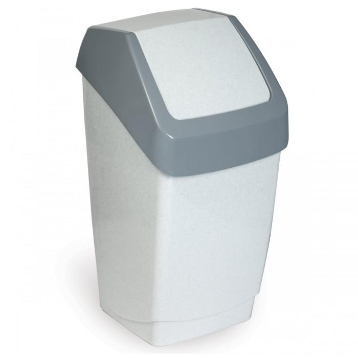 Хозяйственные товары Idea Ведро-контейнер с крышкой (качающейся) для мусора Хапс 15 л