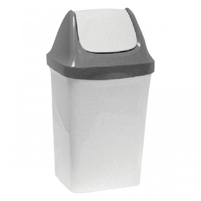 Хозяйственные товары Idea Ведро-контейнер с крышкой (качающейся) для мусора Свинг 15 л недорого