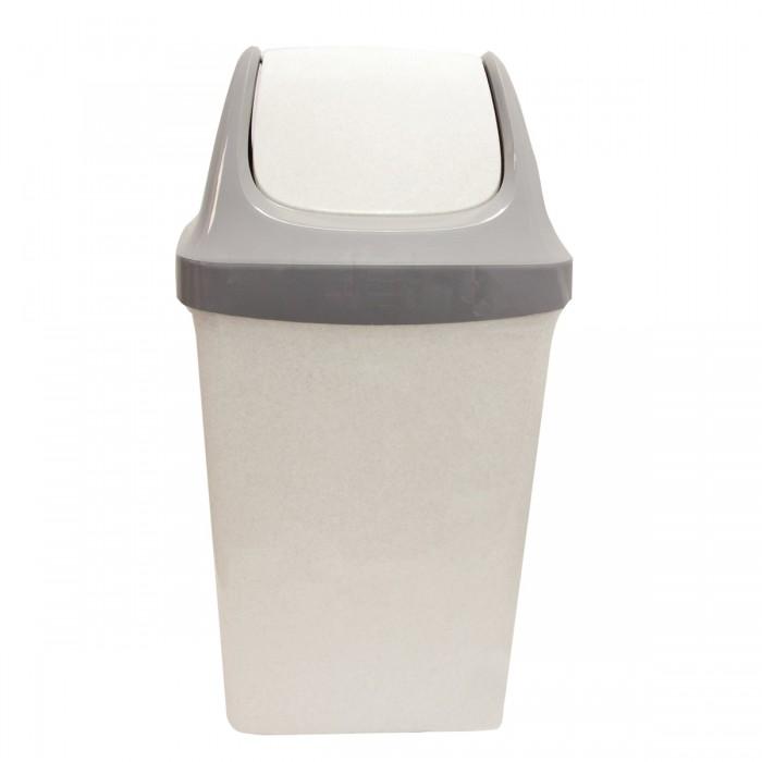 Хозяйственные товары Idea Ведро-контейнер с крышкой (качающейся) для мусора Свинг 25 л недорого