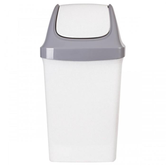 Хозяйственные товары Idea Ведро-контейнер с крышкой (качающейся) для мусора Свинг 50 л недорого