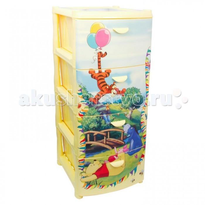Ящики для игрушек Idea (М-Пластика) Комод Дисней 4-х секционный м пластика