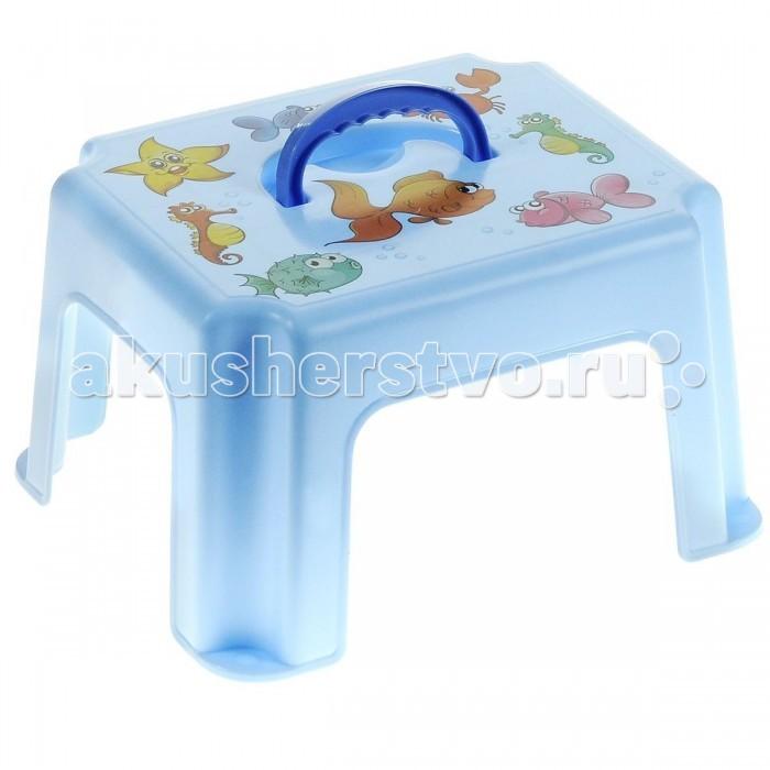 Подставки для ванны Idea (М-Пластика) Табурет-подставка с рисунком м пластика
