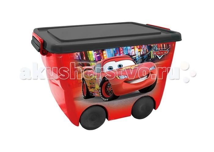 купить Ящики для игрушек Idea (М-Пластика) Ящик для игрушек на колёсах Дисней 45х33х28,5 см дешево