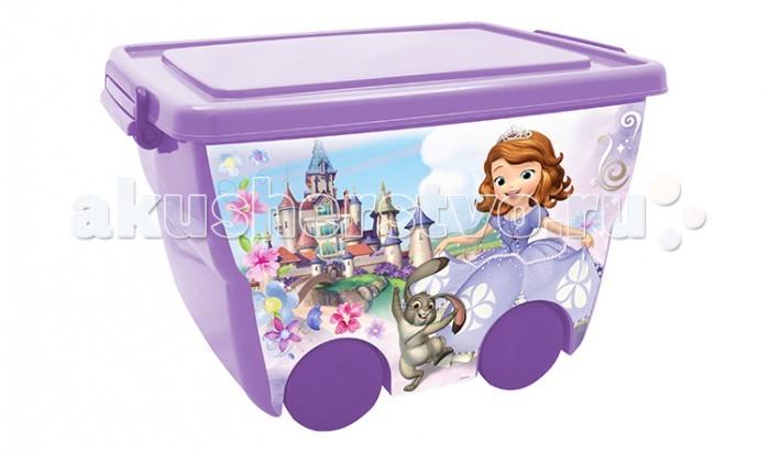 Ящики для игрушек Idea (М-Пластика) Ящик для игрушек на колёсах Дисней 45х33х28,5 см м пластика