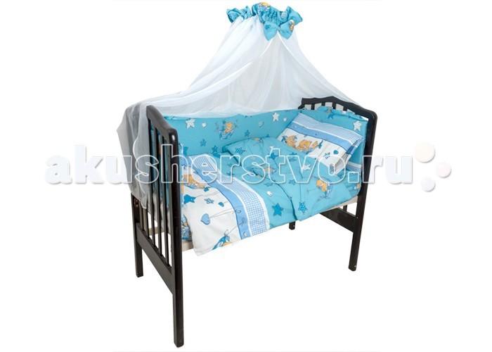 Комплекты в кроватку Idea Kids Мишка в гамаке (7 предметов) этажерка для обуви idea универсал 4 х секционная цвет серый 49 7 х 30 7 х 80 7 см