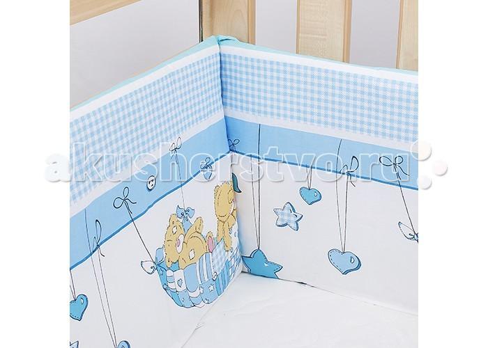 Постельные принадлежности , Бортики в кроватку Idea Kids Мишка в гамаке арт: 331565 -  Бортики в кроватку