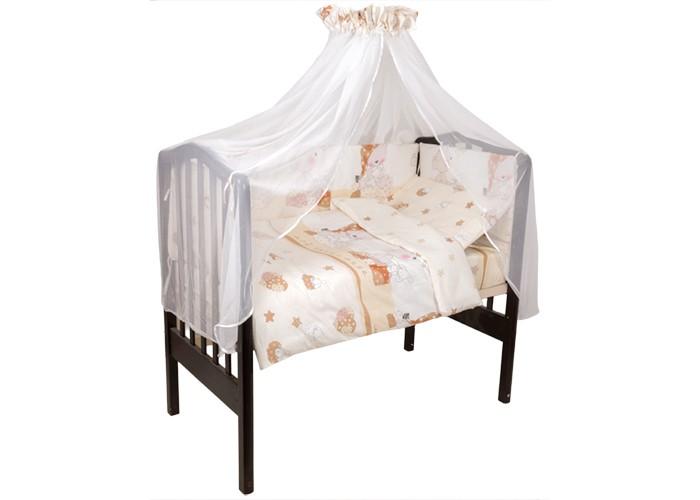 Комплект в кроватку Idea Kids Мой ангелок (7 предметов)Мой ангелок (7 предметов)Комплект в кроватку Idea Kids Мой ангелок (7 предметов) безупречного качества подарит вашему ребенку дополнительный комфорт во время сна, поднимет ему настроение и окунет в мир фантазий.   В состав комплекта входит: наволочка 60 х 40 простынь на резинке для кроватки 120 х 60 пододеяльник 100 х 140 бортики 4 части, чехлы съемные, наполнитель холлкон, высота 40 см одеяло 140 x 97 подушка 60 х 40, наполнитель холлофайбер балдахин 400 х 150<br>
