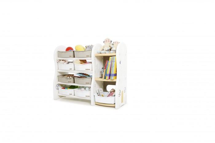 Ifam Стеллаж для игрушек DesignToy-4Стеллаж для игрушек DesignToy-4Ifam Стеллаж для игрушек DesignToy-4 значительно облегчит маме и ребёнку размещение книг и любимых игрушек.   Особенности: Модель выполнена из гипоаллергенного пластика PE/ABS, который легко очищается простыми моющими средствами Приятные светлые оттенки стеллажа помогут ему легко вписаться в интерьер детской На трех полках ребенок легко разместит книги и альбомы Открытые ящики компактно примут игрушки и вещи малыша. В установленном виде стеллаж занимает 115x36x91 см.<br>