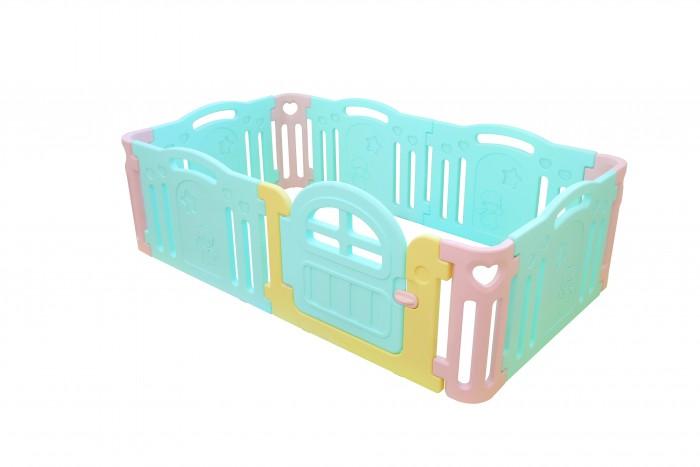 Ifam Ограждение большое MarshmallowОграждение большое MarshmallowIfam Ограждение большое Marshmallow предназначен для достаточно просторных комнат, поскольку занимает в разобранном виде площадь 2,13 х 1,25 м. Данная модель значительно расширяет свободу малыша, подвигая его на новые открытия. В таком манеже могут играть двое детей.  Модель изготовлена из гипоаллергенного пластика. Для большей привлекательности, она дополнена яркими вставками и оригинальными выпуклыми узорами, которые малышам интересно исследовать пальчиками.  Пластик не гигроскопичен и отлично очищается простыми моющими средствами. В сравнении с аналогичными тяжёлыми конструкциями китайского производства, данная модель конструкция весит всего 16,5 кг и занимает в собранном виде 94 x 38 x 72,5 см<br>