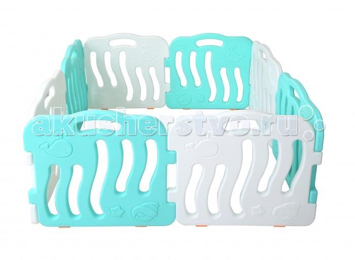 Ifam Ограждение ShellОграждение ShellIfam Ограждение Shell весит всего 9,78 кг, что делает его практически вдвое легче китайских аналогов. Он изготовлен в Южной Корее из экологичного пластика (PE) мятного и белого цветов. Рельефные рисунки на его поверхности прекрасно подходят для развития мелкой моторики малышей.  К преимуществам этой модели можно отнести лёгкость очищения поверхностей при помощи моющих средств, а также компактность размеров. В разобранном виде манеж занимает 1,33 на 1,33 м.   В сложенном состоянии 69,5 х 31 x 62,5 см<br>