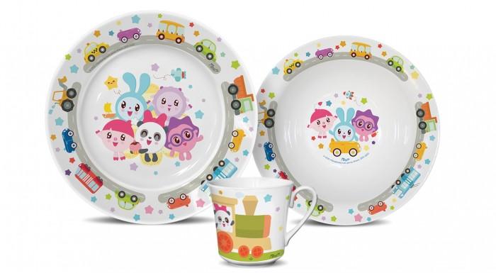 PrioritY Набор детский посуды Малышарики (фарфор)