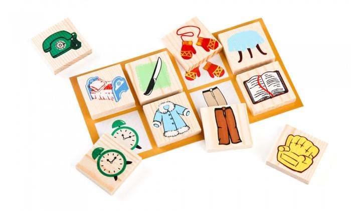Деревянные игрушки Томик Лото Предметы 48 шт. деревянные игрушки томик лото предметы 48 шт