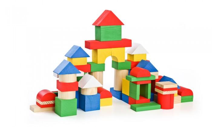 Деревянные игрушки Томик Конструктор (65 деталей) Цветной томик деревянный конструктор цветной 26 деталей