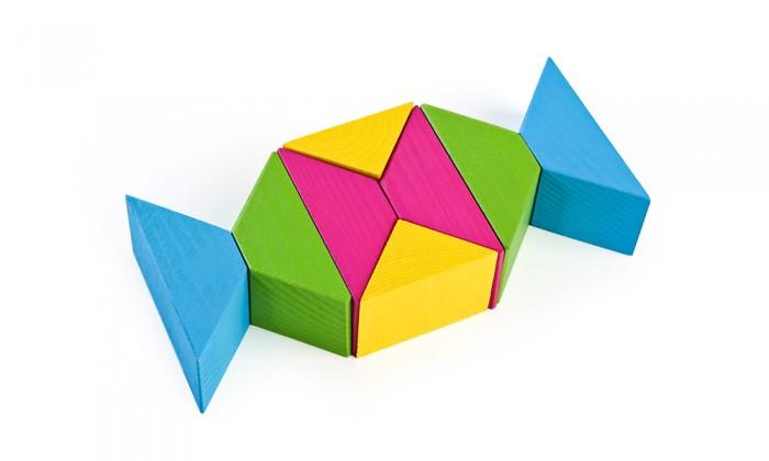 Деревянные игрушки Томик Цветные треугольники 16 деталей