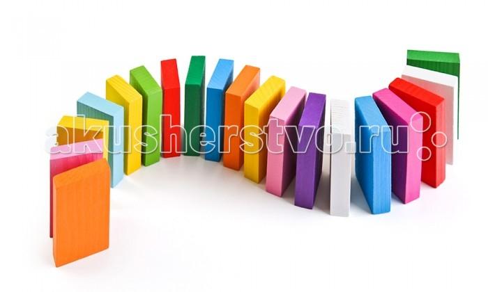 Деревянные игрушки Томик Цветные плашки 28 деталей томик пазлы объемные пароход 16д